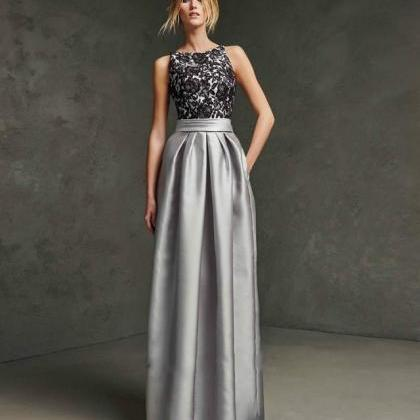 Grey Party Dress Elegant Hosting Evening Dress Long Formal Dress ...